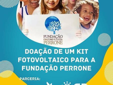 Fundação Perrone ganha doação de kit fotovoltaico