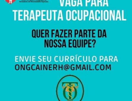 ONG Caine abre vaga ara Terapeuta Ocupacional