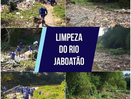 Rio Jaboatão recebe serviços de limpeza
