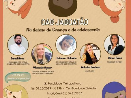 OAB Jaboatão promove palestra sobre defesa da criança e do adolescente