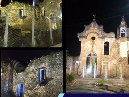 Monumentos de Muribeca recebe iluminação especial