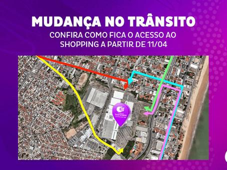 Confira as mudanças de trânsito nas vias que dão acesso ao Shopping
