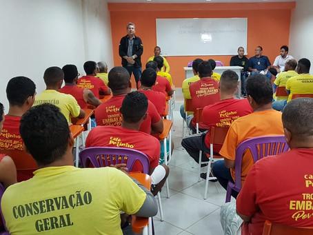 Detentos trabalhadores do Complexo do Curado participam do 1º ciclo de palestras