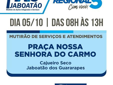 Serviços gratuitos são oferecidos em Cajueiro Seco neste sábado (05)