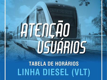 CBTU anuncia os horários da Linha Diesel (VLT)