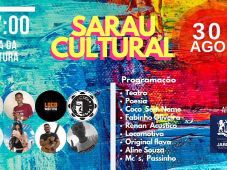 Sarau Cultural com apresentações em Jaboatão Centro