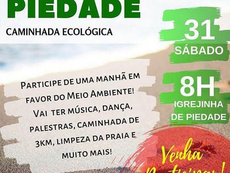 Caminhada ecológica acontece em Piedade neste sábado (31)
