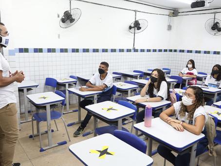 Volta às aulas presencial da rede municipal de Jaboatão