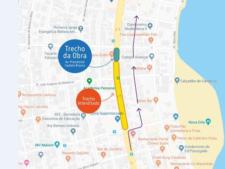Obra na rede de esgoto provoca alteração de trânsito em  Candeias