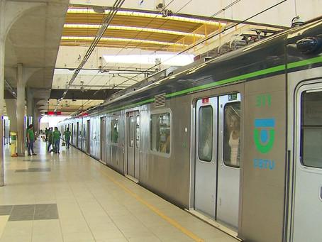 Manutenção nos trilhos altera operações no metrô, neste domingo