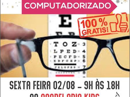 Projeto oferece exame de vista computadorizado gratuito