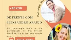 Elexsandro Araújo estreia live com a ex-bbb Tereza Souza