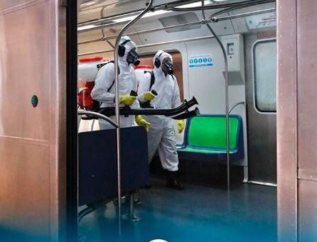 CBTU realiza desinfecções em trens para combater o coronavírus