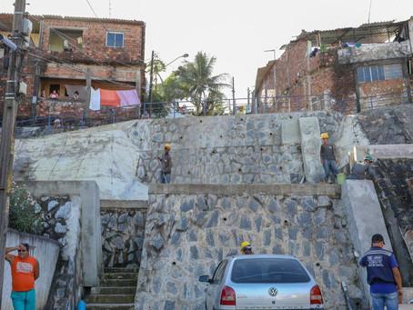 Jaboatão investe R$ 4,8 milhões em obras de contenção de encostas em área de alto risco