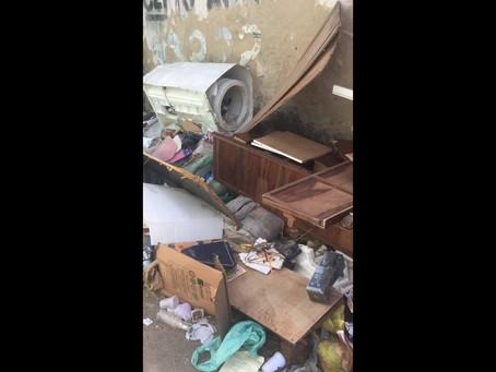 Em visita ao Pacheco, vereador Irmão Fabinho pede que a população faça o descarte correto do lixo