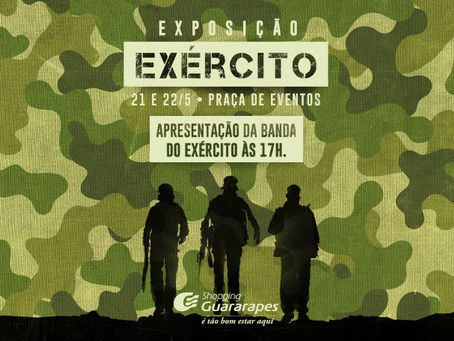 Exposição do Exército no Shopping Guararapes