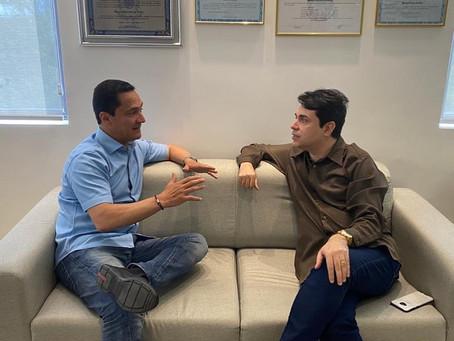 Presidente do PV de Jaboatão se reúne com André Ferreira