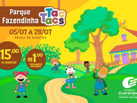 Últimos dias da Fazendinha Tac Tacs no Guararapes