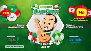 Allan Carlos promove a quarta edição de festa beneficente