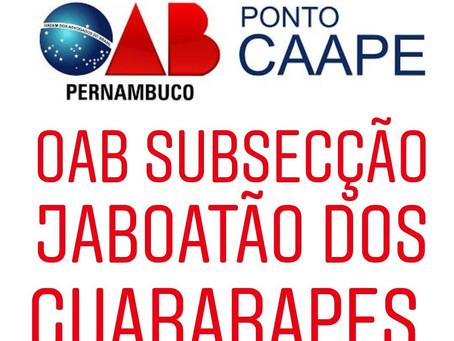 Inaugurado o Ponto CAAPE na OAB Jaboatão