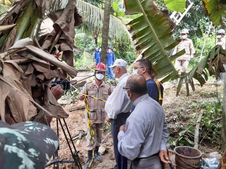 Bispos visitam área de deslizamento de terra em Jaboatão