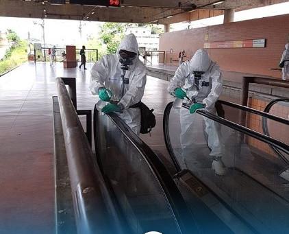 CBTU e Forças Armadas realizam desinfecção nas estações de metrô