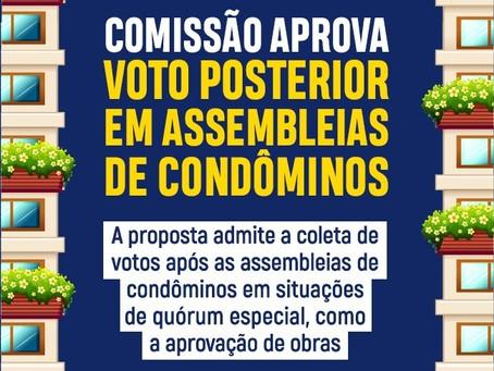 CCJ aproja projeto de lei que admite a coleta de votos após as assembleias de condôminos