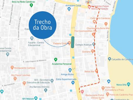 Avenida Presidente Castelo Branco, em Candeias, recebe obra de implantação de rede de esgoto