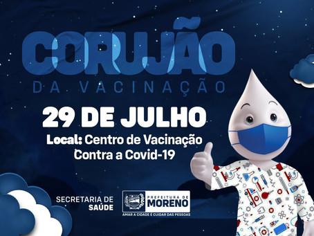 Prefeitura de Moreno realiza corujão da vacinação