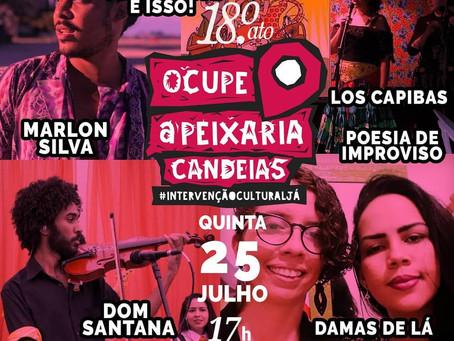 Intervenção cultural em Candeias, nesta quinta (25)