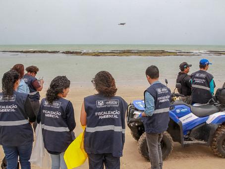Jaboatão usa drone para monitorar surgimento de manchas de petróleo em praias