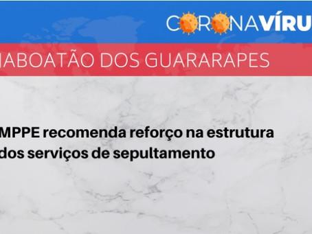 MPPE recomenda reforço na estrutura dos serviços de sepultamento em Jaboatão