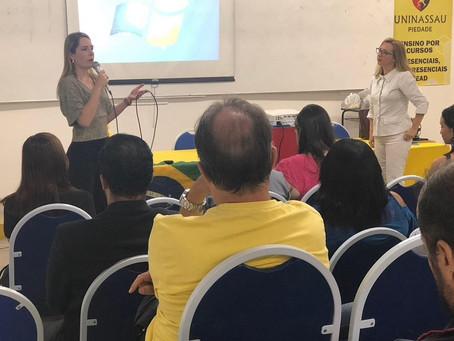 Patrícia Domingos ministra palestra em Piedade