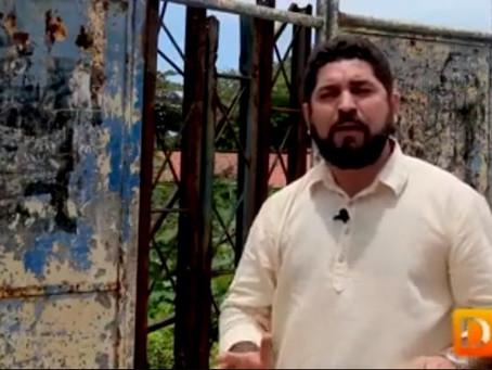 Daniel Alves denuncia abandono do antigo prédio da Escola Visconde Suassuna