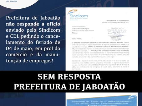 Prefeitura não responde solicitação do Sindicom Jaboatão