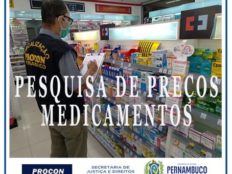 Procon PE: pesquisa de medicamentos mostra diferença de até 477%