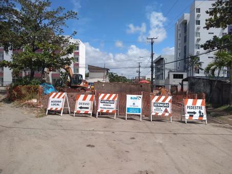 Prazo de obras é prorrogado em trecho de avenida em Candeias
