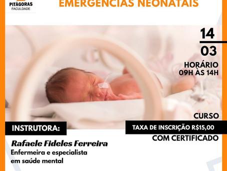 Inscrições abertas para curso de de Atuação da Enfermagem nas Emergências Neonatais