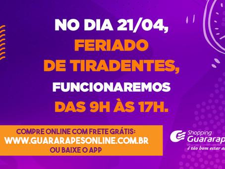 Confira o horário de funcionamento do Guararapes