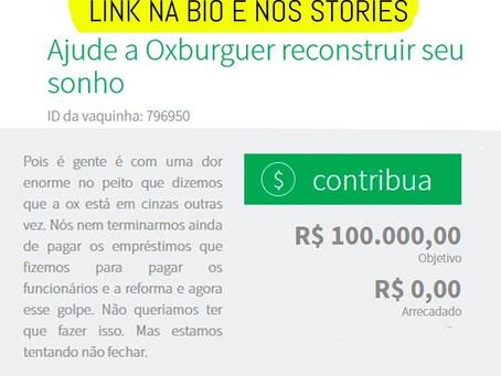 Após incêndio, OX Burguer de Prazeres faz vaquinha on line