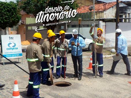 Obra de saneamento muda itinerário de ônibus em Jaboatão