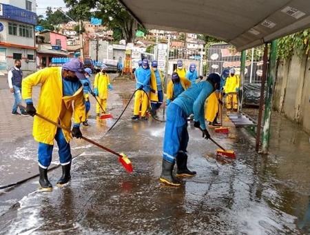 Ações de limpeza de ruas e avenidas em Cavaleiro