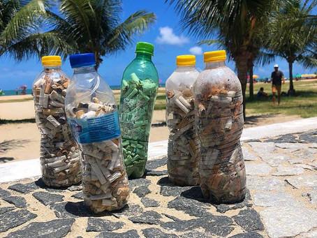 Atividade recolhe mais de 2,5 mil bitucas de cigarro na orla de Candeias