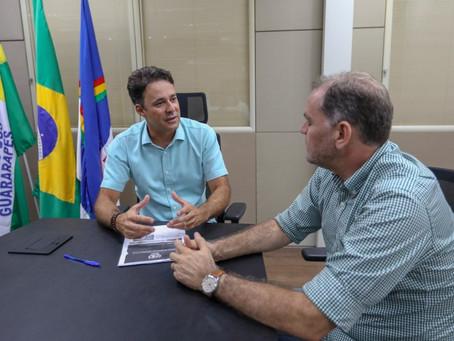 Anderson Ferreira recebe vice-prefeito de São Lourenço