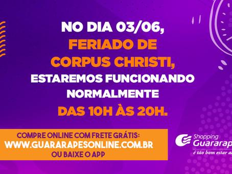 Confira horário de funcionamento do Guararapes no dia 3 de junho