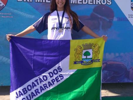 Triataleta Caroll Gomes ganha medalhas  no Torneio Norte-NE de Natação