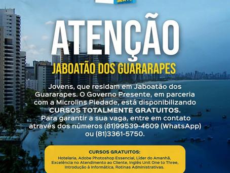 Inscrição abertas para cursos gratuitos em Jaboatão