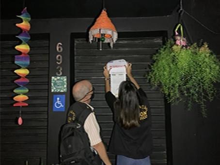 Três bares interditados no Centro do Recife