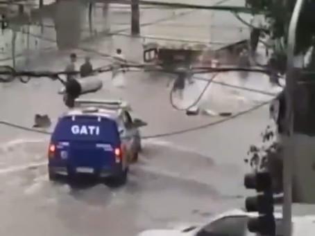 PM flagra assalto a caminhão em Porta Larga