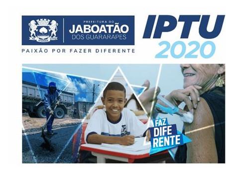 Jaboatão amplia prazo para pagamento do IPTU 2020